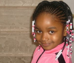 Short Braids with Beads- African American Little Girl Hairstyles
