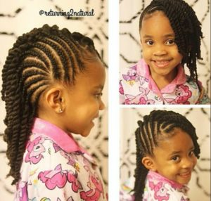 Cornrows and Twists- African American Little Girl Hairstyles