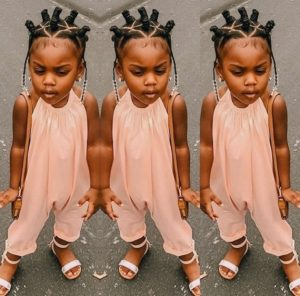 Bantu Knots and Braids with Beads- African American Little Girl Hairstyles