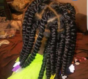 Box Twists with Beads-African American Little Girl Hairstyles