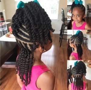 Braids with Twists- African American Little Girl Hairstyles